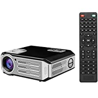 Docooler LCD Projector 1080P LED Projector Beamer 3200 Lumens 1500:1 Contrast Ratio HD / USB / VGA / AV for Home Theater Business US Plug