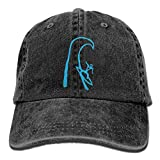 lightly Suring Logo Eddie Would Go Trend Printing Cowboy Hat Fashion Baseball Cap for Men and Women Black
