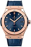Hublot Classic Fusion Blue Sunray Dial 18kt King Gold Automatic Mens...