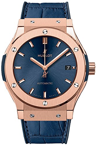 Hublot Classic Fusion Blue Sunray Dial 18kt King Gold Automatic Mens Watch 511.OX.7180.LR