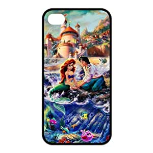 ROBIN YAM- [The Little Mermaid Princess Ariel] iPhone 4 4S Hard Protective TPU Rubber Phone Cover Case -ARY329