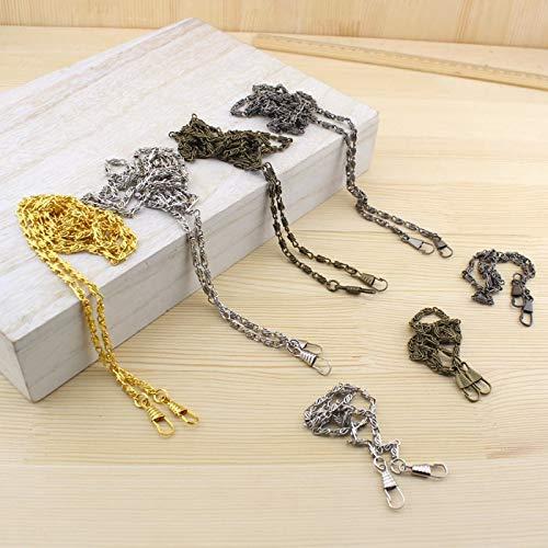 Buckes - Wholesale Purse Metal Frame Chain Shoulder Strap for Bag Sewing DIY Bag Accessory Gold, Silver Gun Metal 40cm 120cm 50 pcs - (Size: 40cm Silver)