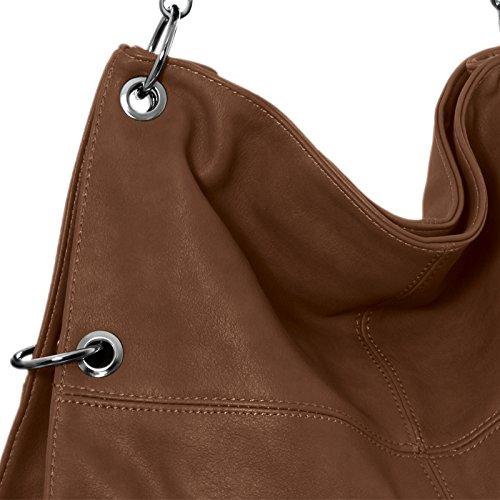 CASPAR TS561 Bolso de Bandolera para Mujer Bolso de Hombro en Varios Colores Castaño