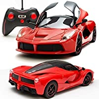 MWT TOYZ Remote Control Ferrari R/C Car with Openable Doors and Rechargeable Batteries for Kids (Red)
