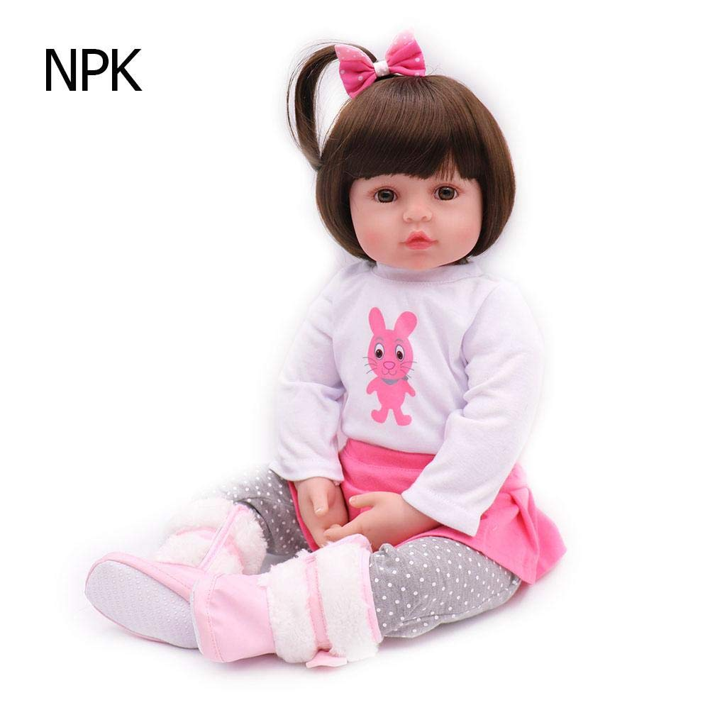 WinnerEco Child Toy Simulation Newborn Baby Lifelike Reborn Doll Toy for Girl Kid Gift (60cm)