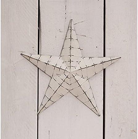 Whitewashed Metal Amish Barn Star Vintage Shabby Chic Rustic Star Medium X Large