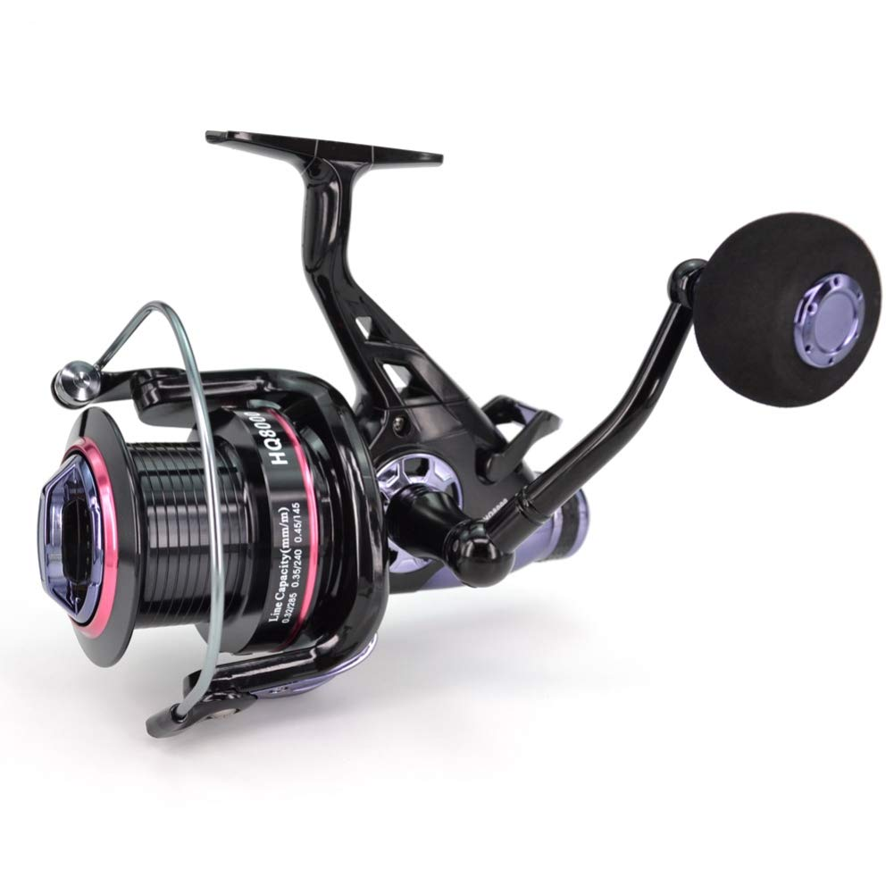 SuperCS Spinning Fishing Reel Metal Coil Fishing Wheel Boat Rock High-Speed Spinning Fishing Spool Casting Flying Fishing Trolling for Saltwater/Freshwater Fishing Accessories by SuperCS