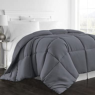 Beckham Hotel Collection - All Season - Luxury Goose Down Alternative Comforter - Hotel Quality Comforter and Hypoallergenic - King/Cal King - Gray