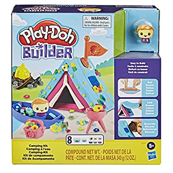 Play-Doh Builder Tenting Package Constructing Toy for Youngsters 5 Years and Up with 8 Cans of Non-Poisonous Modeling Compound – Simple to Construct DIY Craft Set