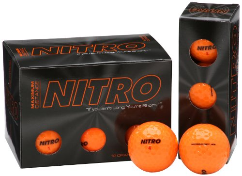(Nitro NMD12OBXC  Maximum Distance Golf Ball (12-Pack), Orange)
