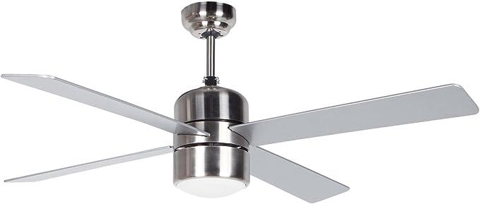 Orbegozo CP 72120 Ventilador de techo con luz y mando a distancia, 4 palas, 105 cm de diámetro, potencia de 60 W y 3 velocidades