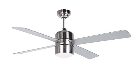 Orbegozo CP 72120 – Ventilador de techo con luz y mando a distancia, 4 palas, 120 cm de diámetro, potencia de 55 W y 3 velocidades