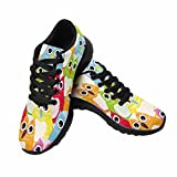 InterestPrint Women's Go Easy Walking Comfort Sports Athletic Shoes Owl Birds US 7