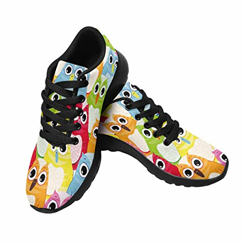 InterestPrint Women's Go Easy Walking Comfort Sports Athletic Shoes Owl Birds US 7 by InterestPrint (Image #3)