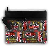 Bing4Bing Double-deck Fire Rescue Slice Before Printing Jewelry Bag Cosmetic Bag Toiletries Bag