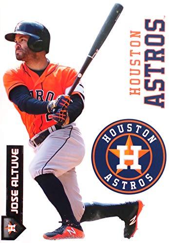 Jose Altuve FATHEAD Graphic + Houston Astros Logo Set Official MLB Vinyl Wall Graphics 17