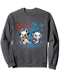 Cute Gamer Dog & Gamer Panda Gaming Buddies Sweatshirt
