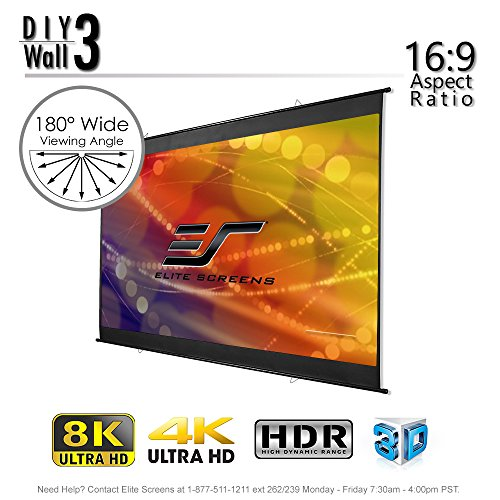 Elite Wall 3, Indoor Portable Projector screen 16:9, 8K 4K Cinema Projection Roll-Up Hang Anywhere,