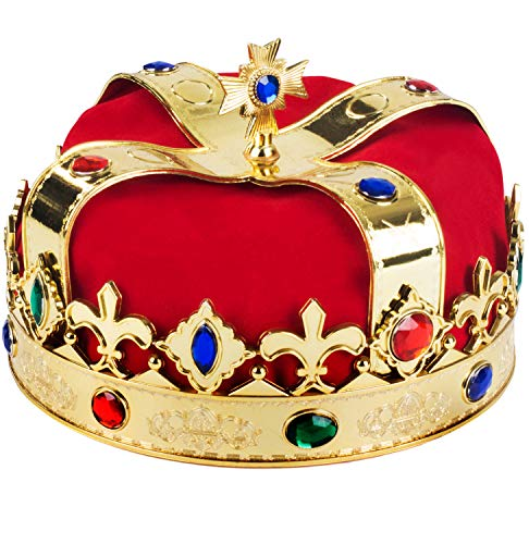 Royal Jeweled King's Crown - Costume Accessory -