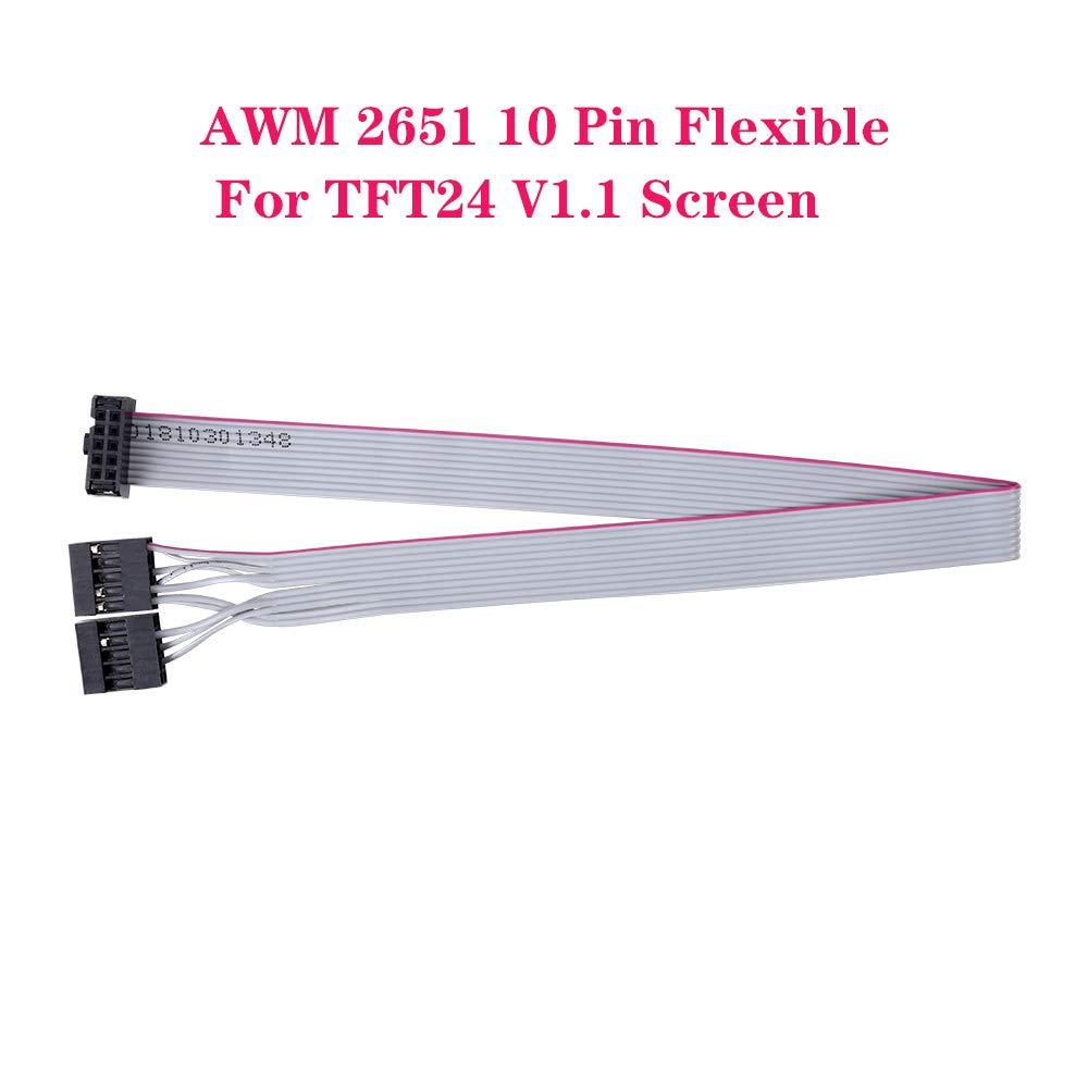 1 cable plano flexible de 10 pines para impresora 3D Prusa I3 de ...