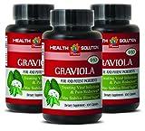 Lung health - PREMIUM GRAVIOLA EXTRACT 650 Mg - Soursop capsules - 3 Bottles 300 Capsules