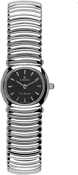 Reloj de mujer Edox Les auges 21148/L2 con movimiento de Cuarzo, caja y pulsera de acero pulido: Amazon.es: Relojes