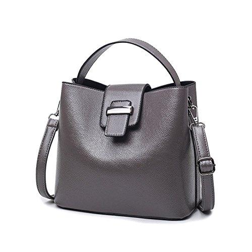 Grey Sac Seau à Diagonale LQQAZY Sac Paquet Simple Main Bandoulière Femme Sac PqYwaZ