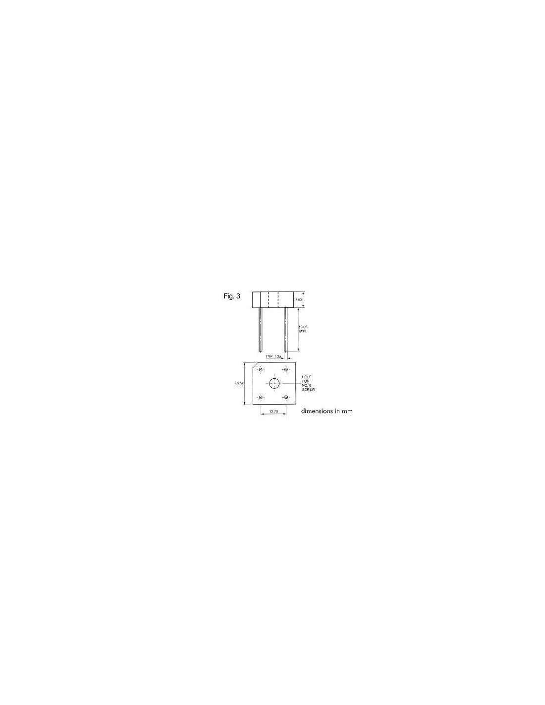 Perel 138735/Pont redresseur 5/Amp 100/V