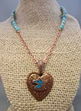 Copper Western Horse Necklace, Copper Heart Horse Head Pendant, Native American Jewelry, Southwestern Design, Stabilized Turquoise Necklace, Cowgirl