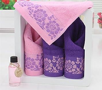 Bordado subproceso sin administrar Ustide costura y manualidades Toalla de mano Diseño muy suave 34,01 cm x 34,01 cm juego de toallas de cara de bambú 6 ...