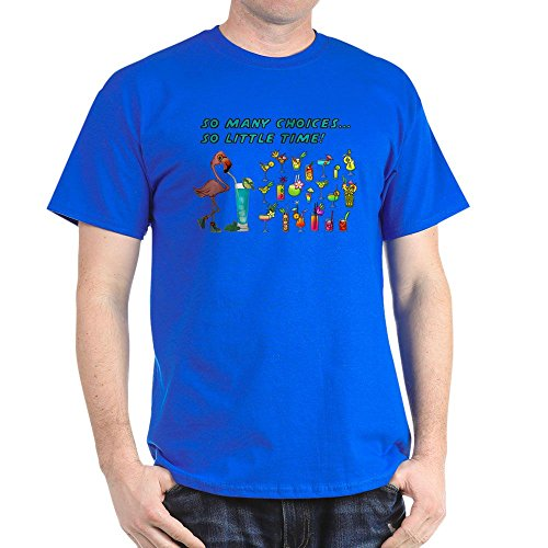 (CafePress Flamingo Happy Hour T-Shirt 100% Cotton T-Shirt)