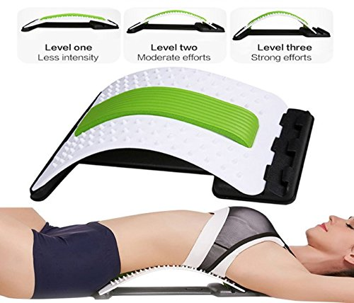 Best Arched Back Stretcher As Seen Doctors TV - CHISOFT (2nd Edition) Lumbar Stretching Device + Extra Cushion Foam + Trigger Point Massage Ball, Improve Posture, Sciatica Back Pain Relief by CHISOFT (Image #2)