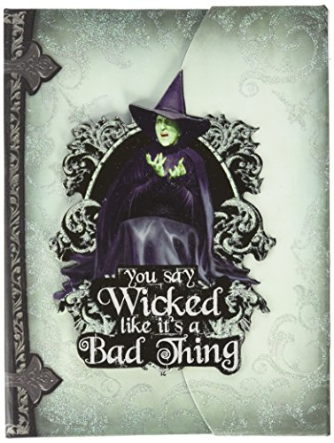Paper House Productions JDM-0005E Journal with Die Cut Magnetic Book Clip Cover, Oz-Wicked Witch