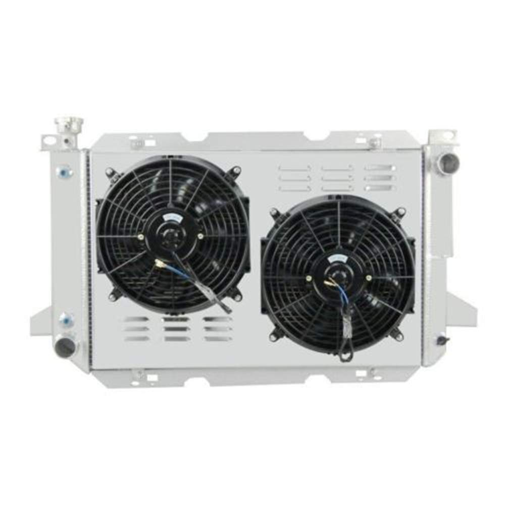 "12/"" BLACK Fan For 1985-1996 FORD F-150//F-250//F SUPER DUTY V8 Aluminum Radiator"