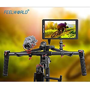Feelworld F570 5.7 Inch 1920x1080 IPS Full HD 4K On-camera Monitor with HDMI Input Output Mount Mat Stablizer for DSLR and Gimbal Rig