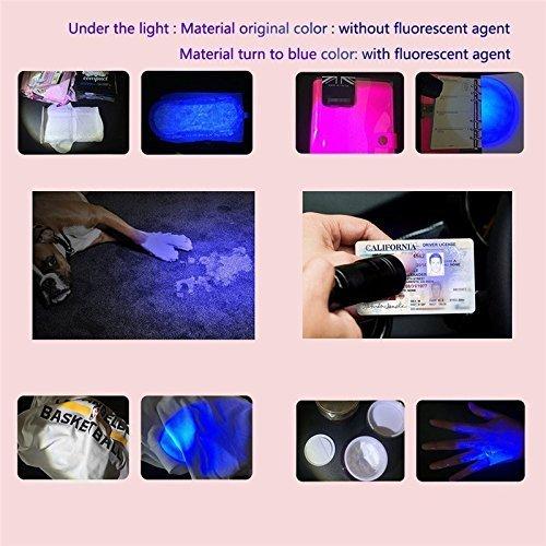 Vander 51 LED 395 nm UV Ultraviolet Blacklight Flashlight Included 3 pcs AA batteries, Spot Scorpions, Pet Urine, Counterfeit Money, Bed Bugs, Minerals, Leaks