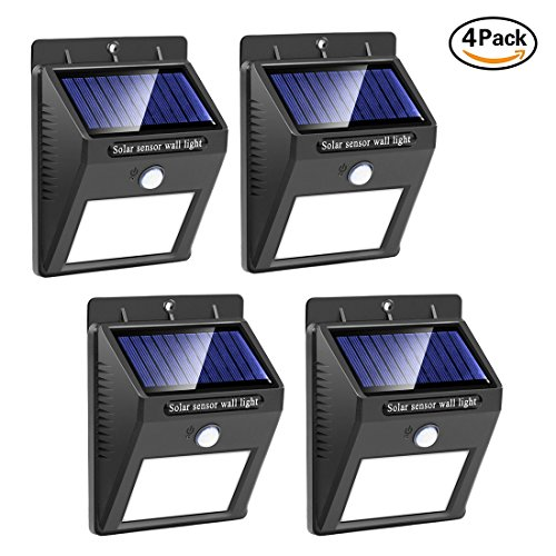 20LED Solar Lights Outdoor, Qcai Solar Powered Motion Sensor Wall Lights,  Wireless Waterproof LED Step Night Light Security Porch Light For Front Door  Yard ...