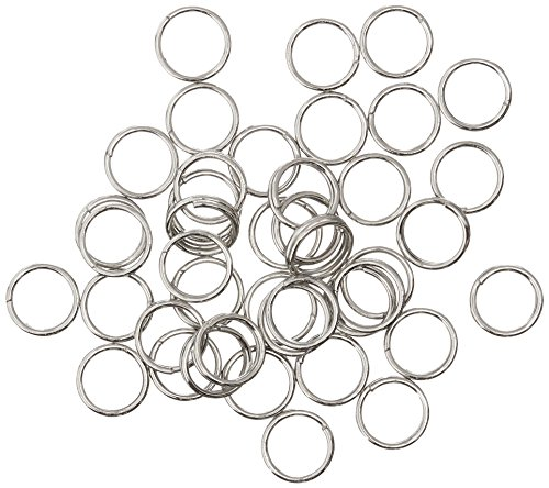 Blue Moon Value Pack Metal Findings, Split Rings Silver 220/Pkg 6mm