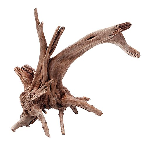 Hinmay Wood Decoration Ornament, atural Tree Trunk Driftwood Aquarium Fish Tank Plant Stump