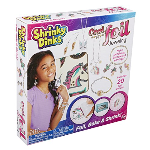 Shrinky Dinks Cool Foil Jewelry, Silver