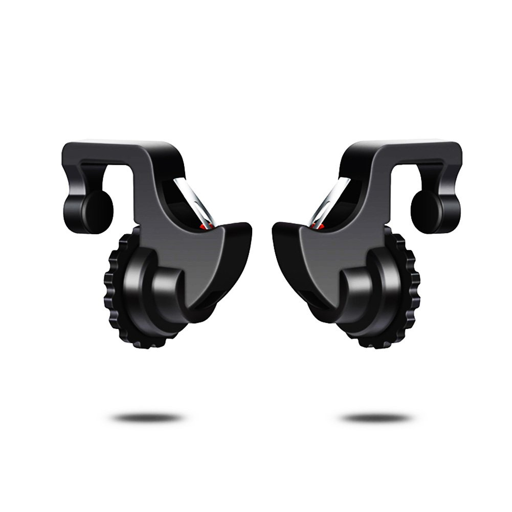 PRODELI PUBG Mobile荒野行動コントローラー最新版7代目スマホホルダー機能付き補助クイックショットボタンゲームパッド人間工学設計 感度高く 疲れず 左右分けず 押しボタン各種ゲーム対応可能iPhone/Android対応(二個入れ)