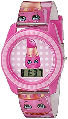 Shopkins Girl's Quartz Plastic Casual Watch, Color:Pink (Model: KIN4001) by Accutime Watch Corp.