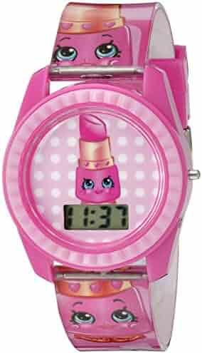 Shopkins Girl's Quartz Plastic Casual Watch, Color:Pink (Model: KIN4001)