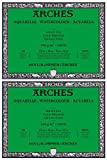 2-Pack - Arches Watercolor Block 140 Pound Cold Press Paper - 9 x 12-20 Sheets Each