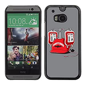 CaseLord Carcasa Funda Case - HTC One M8 / Funny Vampire Illustration /