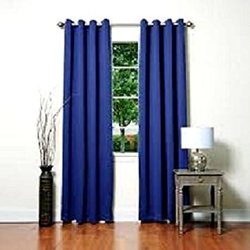 Curtains Ideas curtain panels 72 length : Amazon.com: GorgeousHomeLinen 1 PC Navy Blue #72, length 63