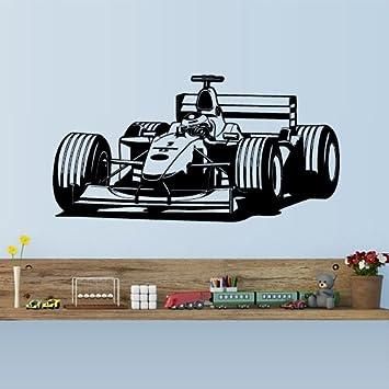 Wall Vinyl Sticker Decals Decor Art Bedroom Pilot Formula 1 Sport Car Racing  Front Gift Kids