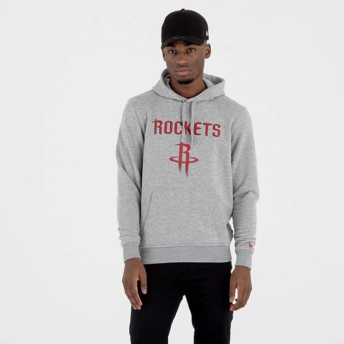 a7bb6c073 New Era Houston Rockets Team Logo Hoodie NBA Sweatshirt Grey  Amazon.co.uk   Sports   Outdoors