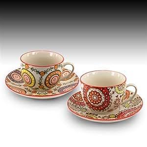 Signes grimalt taza con plato x2 colores ceramica 15 cm 63486sg hogar - Platos ceramica colores ...