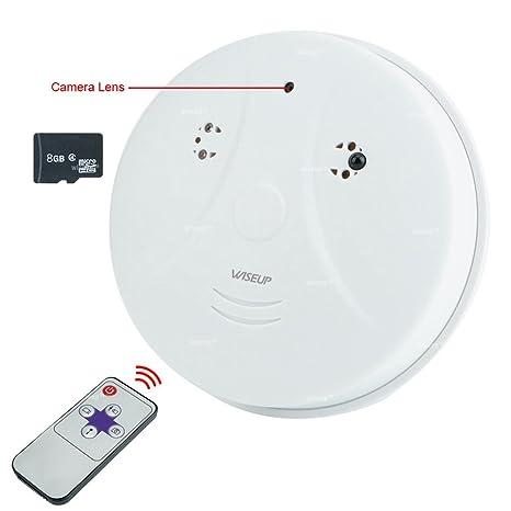wiseup 8 GB 1920 × 720P HD Mini Cámara detector de humo Interior Movimiento activado Seguridad